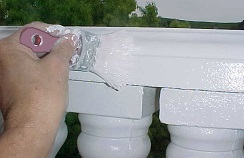 Applying Behr Premium Plus Ultra Pure Semi-Gloss paint