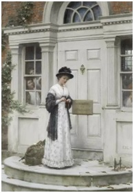 The New Governess by Edmund Blair Leighton, (1853-1922)