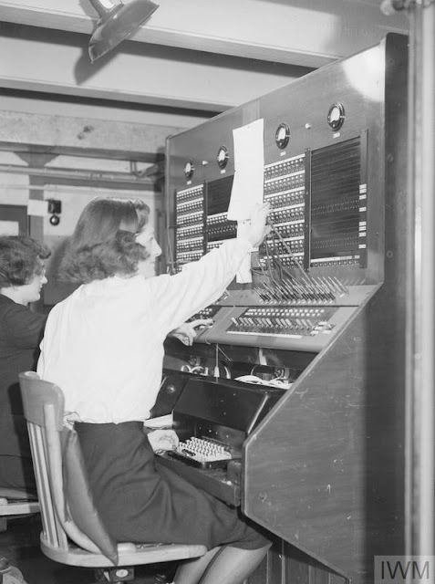 Derby House switchboard operator 2 July 1941 worldwartwo.filminspector.com