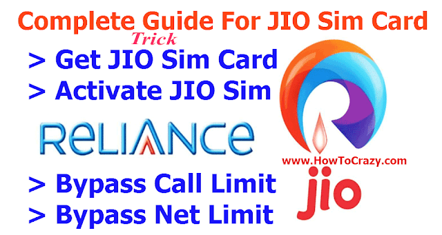 Full Guide For Reliance JIO Sim Card (How To Get, Activation, Bypass Call / SMS Limit, Mobile Models)