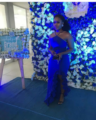 #BBNaija's Ceec stunning in blue as she's unveiled as Sapphire scents brand ambassador