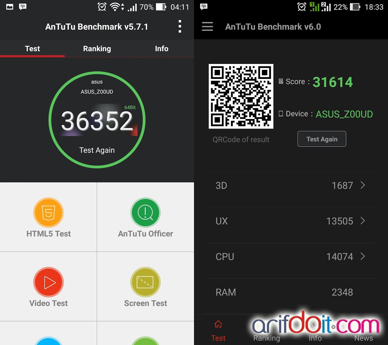 score Android L antutu V6.0