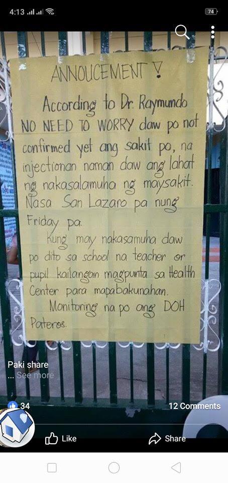 Meningococcemia rare disease scares Pateros residents