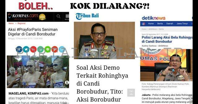Ketahuan!! Borobudur Boleh Dipakai Untuk #PrayforParis, Tapi Giliran Untuk #SaveRohingya Tidak Boleh!