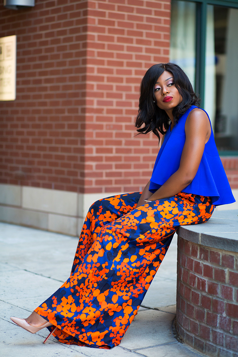 simply intricate nyc floral pants, cameo collective crop top