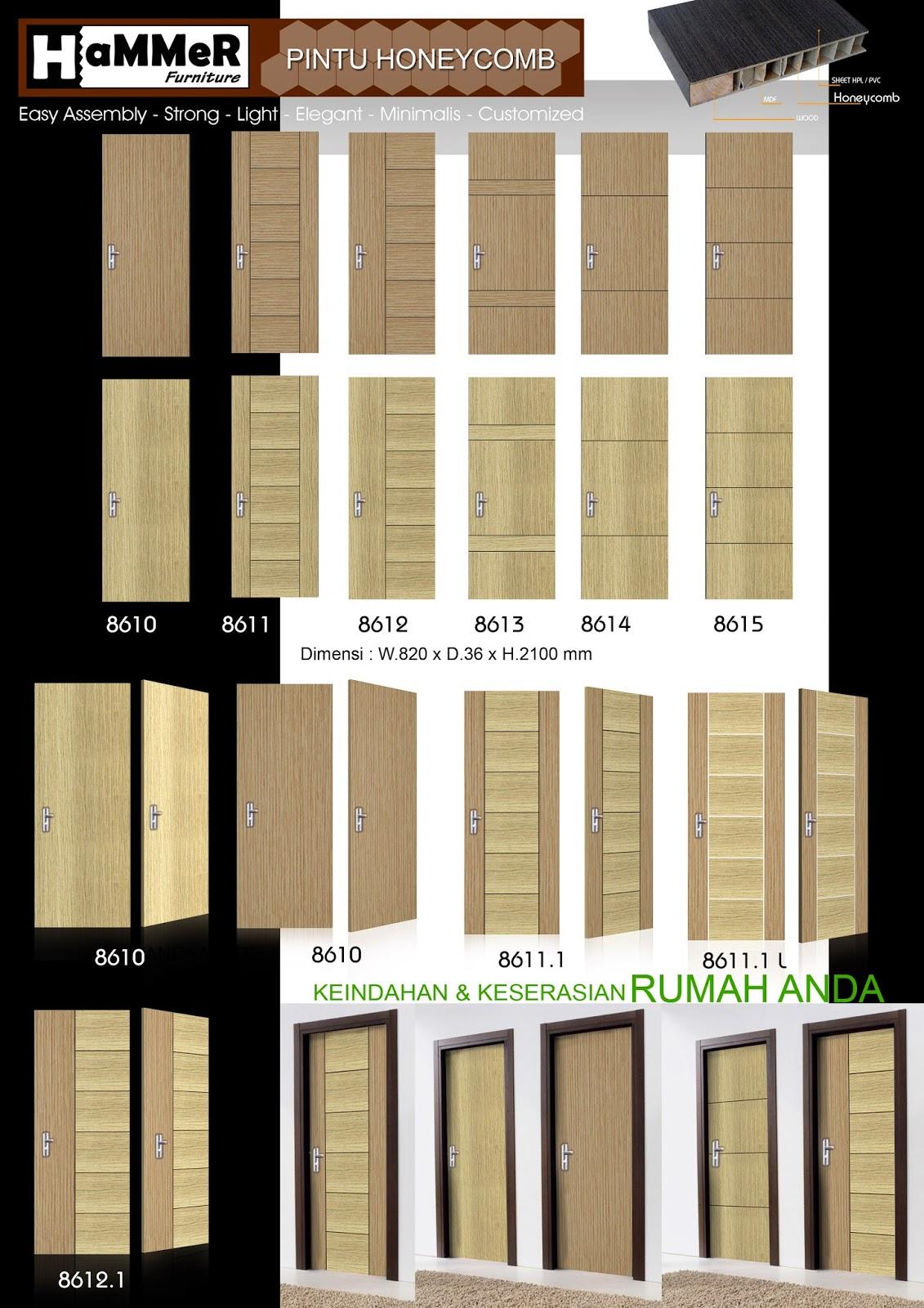 Pintu Kayu Honeycomb