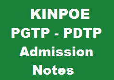 KINPOE PGTP PDTP Admission Pattern Paper, Written Test, MCQs and Notes