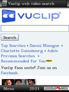 vuclip mobile video search blackberry
