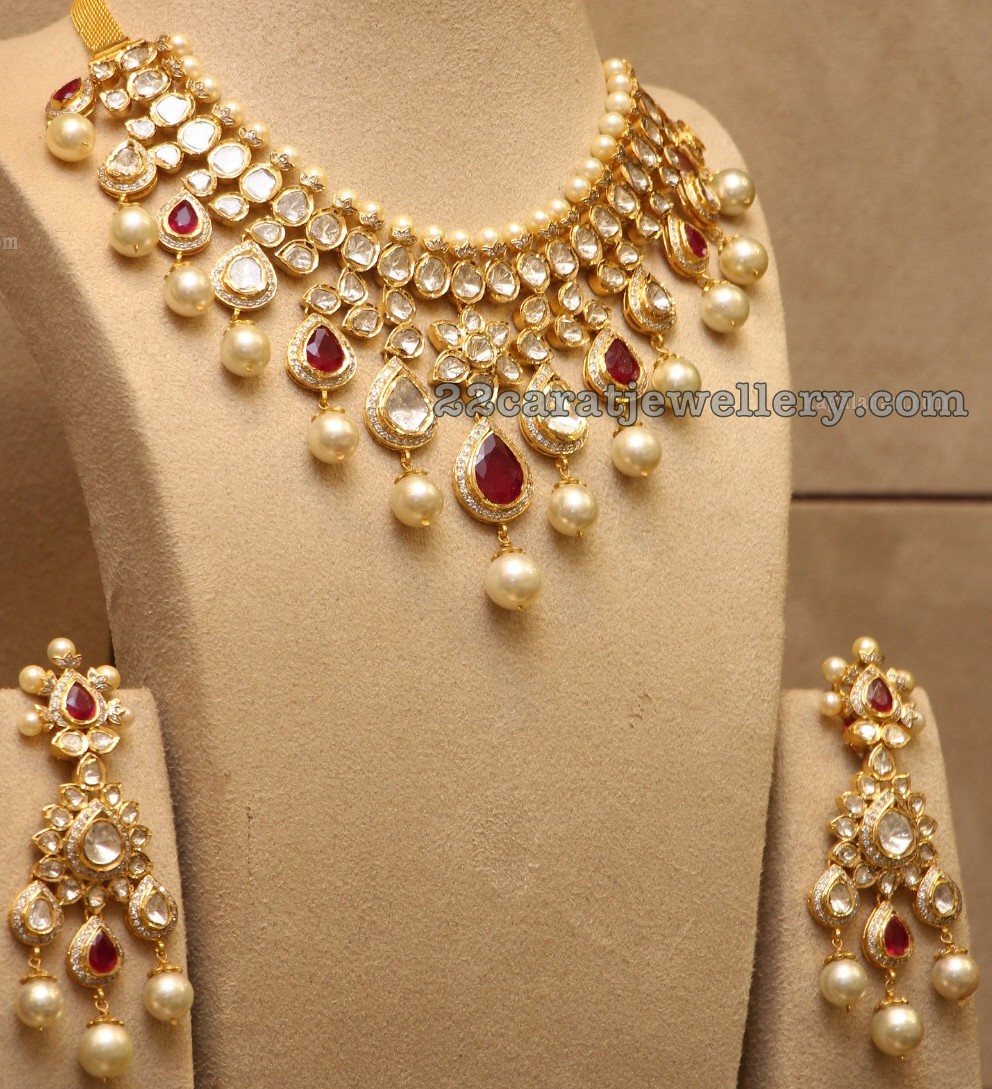 Pachi Necklace with Earrings - Jewellery Designs