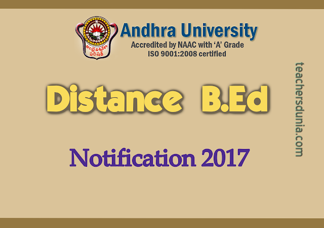 Andhra-University-Distance-BEd-Admission-Notification-2017