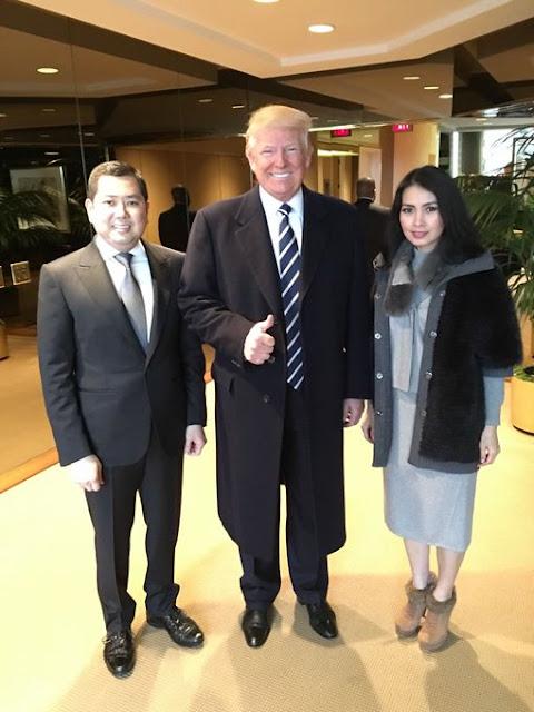 Hary Tanoesoedibjo, Donald Trump, Liliana Tanaja Tanoesoedibjo