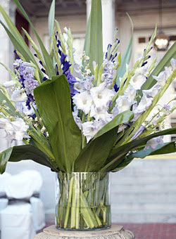 Art In Entertaining By Cindy Rippe Gladiola Centerpieces