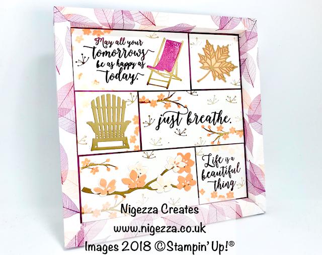 Shadow Frame Sampler Using Stampin' Up!® Natures Poem & Colourful Seasons  Nigezza Creates