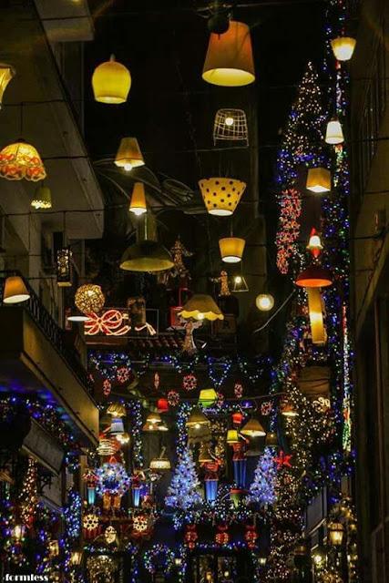 Pittaki Street Psirri Athens Christmas