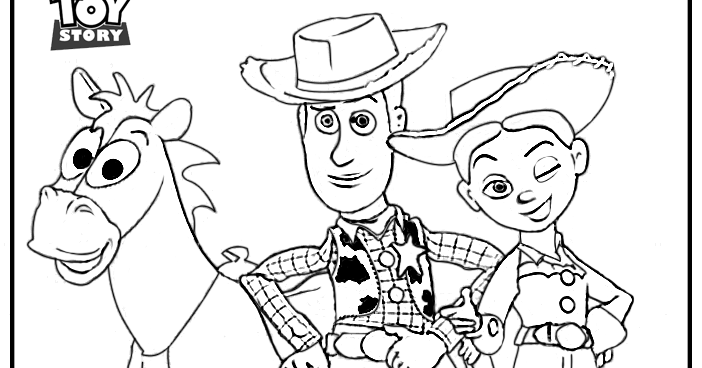 woody bullseye coloring pages - photo#13