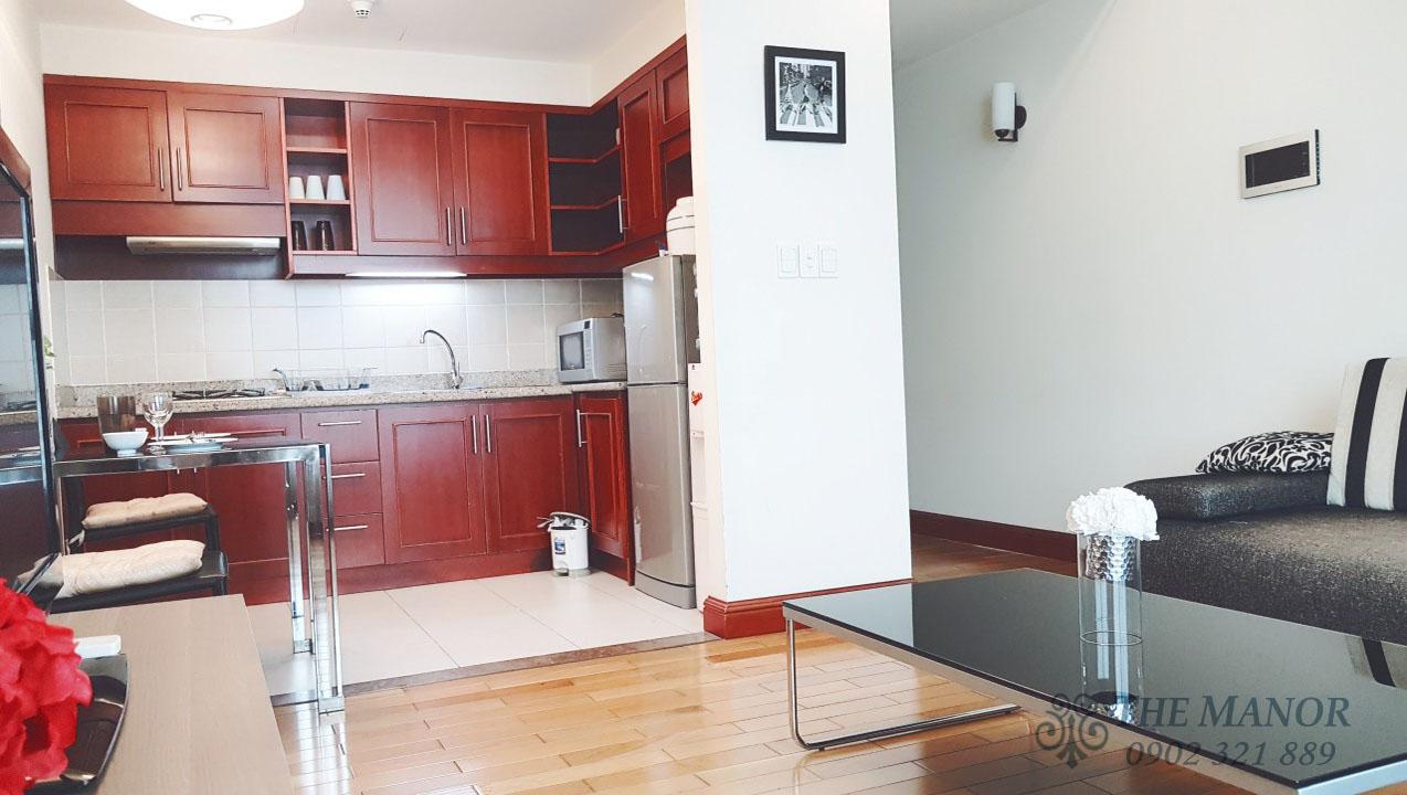 Căn hộ The Manor 2 phòng ngủ cho thuê 80m2 block F tầng thấp - hình 2
