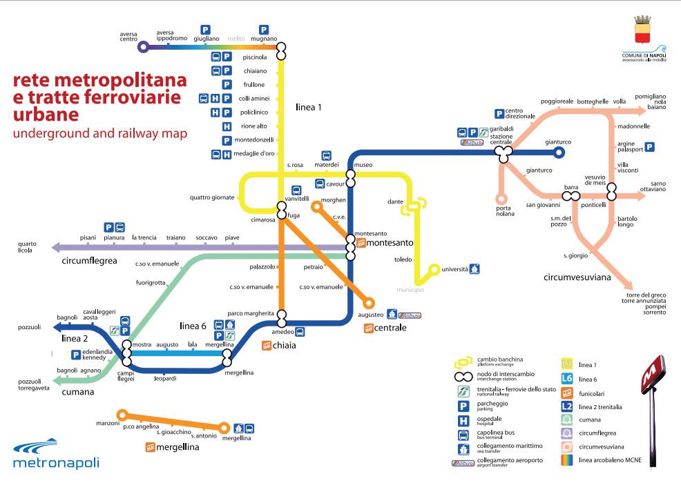 Metropolitana Linea 1 di Napoli: mappa, orari e prezzi