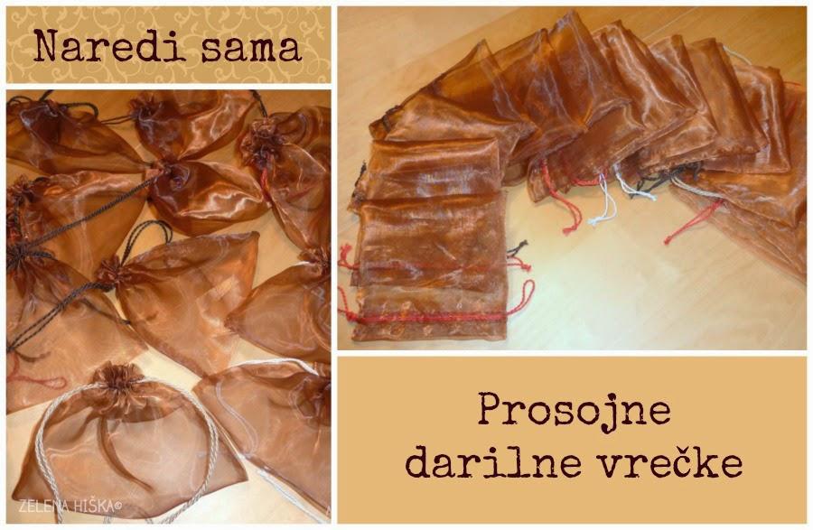 prosojne darilne vrečke - naredi sam