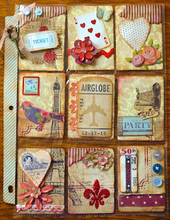 How to create pocket letters, how to find pocket pals, vintage theme style pocket letter paris and travel with ephemera, in red, neutrals, beige, taupe, and blue