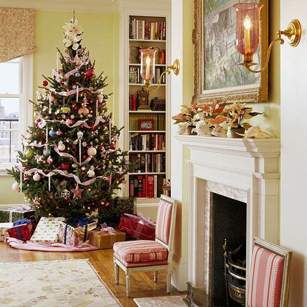 Pretty Christmas Trees: Beautiful Christmas Living Room Decorations