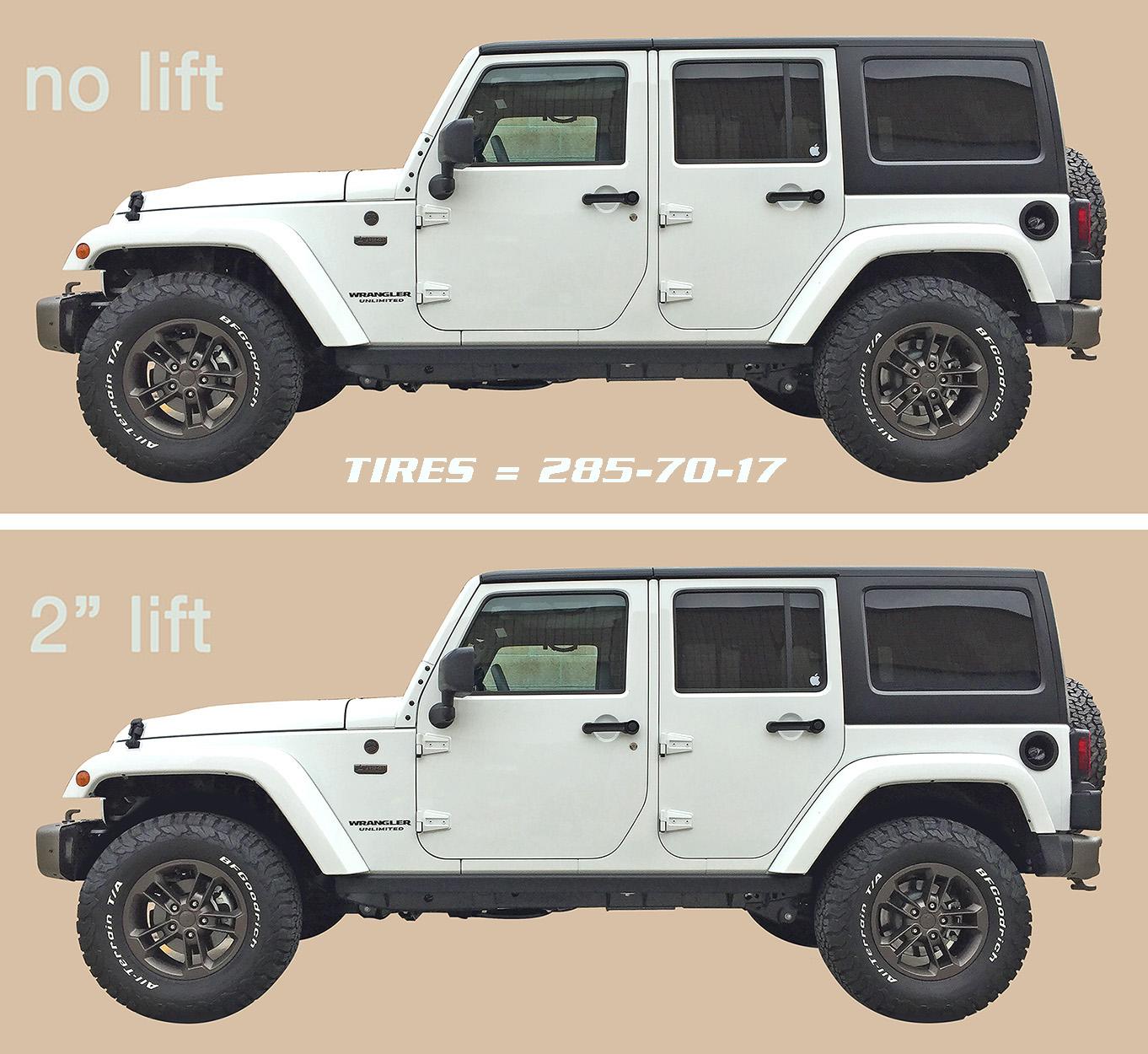 m schultz blog jeep wrangler 2016 before and after 2 inch lift. Black Bedroom Furniture Sets. Home Design Ideas