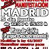 Madrid 5 de Junio. Manifestación en defensa de la pesca.