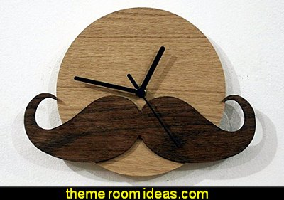 Hipster Moustache - Wooden Wall Clock