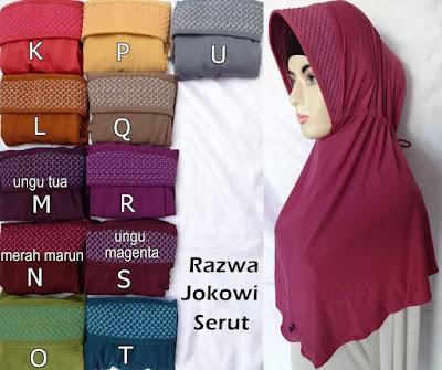 Grosir Jilbab Razwa Jokowi Serut
