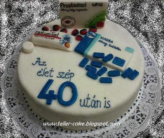 szülinapi torta 40 teller cake: