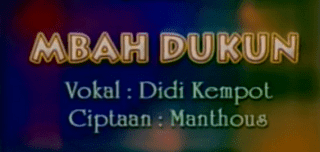 Lirik Lagu Mbah Dukun - Didi Kempot