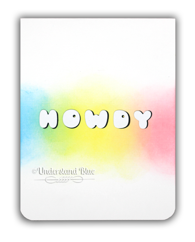 Phat Alphanumeric Die Cut Howdy Card by Understand Blue