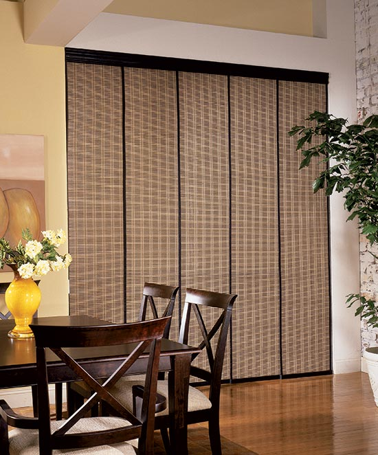 Ideas for window treatments for sliding glass door home design ideas 2017 - Woven wood wall panels ...