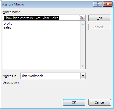 Excel for power dynamically show hide charts create the second option button name it as profit ccuart Choice Image