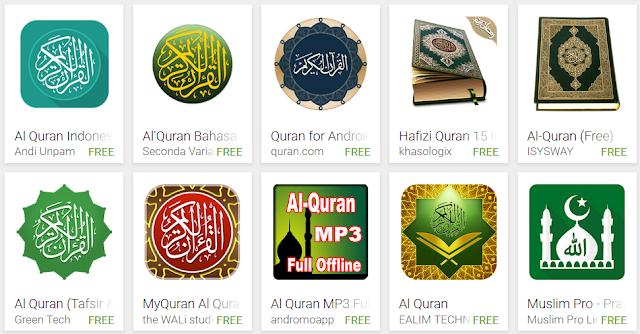 10 Aplikasi Al Quran Android Yang Muncul Paling Atas Di Playstore