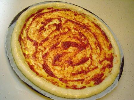 Super Supreme Pizza Recipe sauced