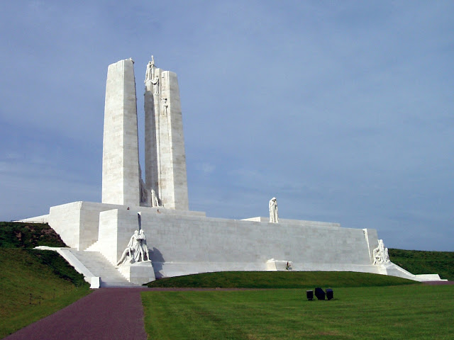 Vimy Memorial, on Vimy Ridge, France.