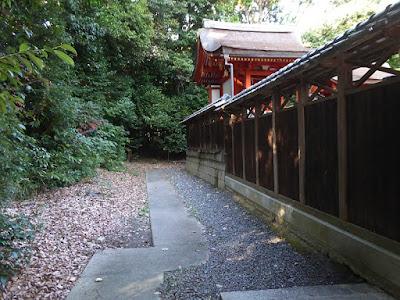 交野天神社 拝殿の後ろ側