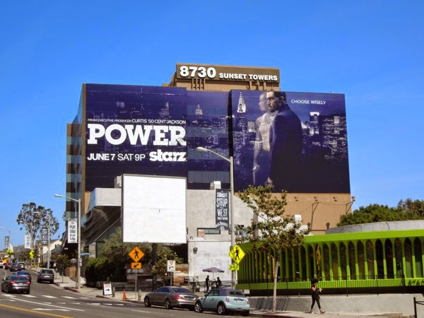 Giant Power season 1 Starz billboard