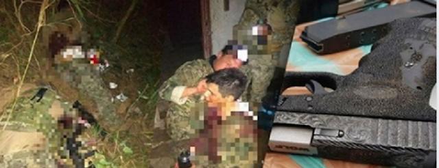 FOTOS; Marinos heridos y siendo atendidos por compañeros leales quienes fueron emboscados por la espalda por Sicarios Huachioleros ratas