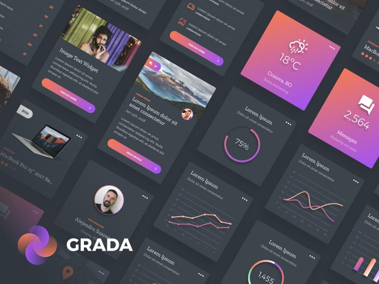Download Grada - Figma UI Kit Free - Free Design Data