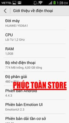 Tiếng Việt Huawei Y536A1 alt