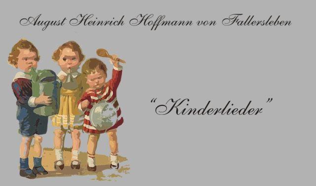 Gedichte Und Zitate Fur Alle A H H Von Fallersleben