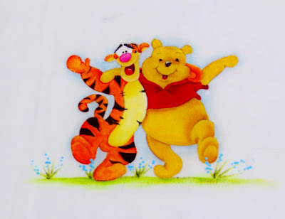 pintura em tecido ursinho pooh e tigrão
