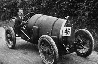 Raymond Mays in the Cordon Rouge Brescia Bugatti.  Photo Courtesy of All American Racers