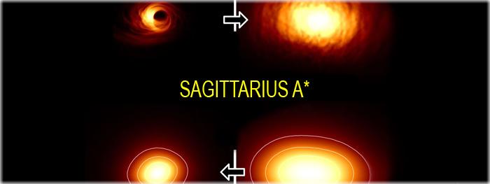 melhores imagens do buraco negro central sagittarius a*