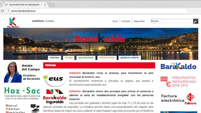 web del Ayuntamiento de Barakaldo
