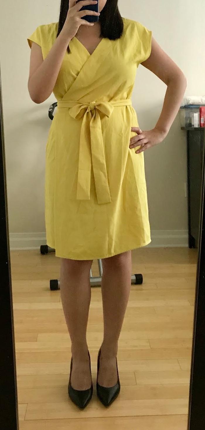 b78871f3108 Invincible Summer  Everlane GoWeave Short-Sleeve Mini Wrap Dress Review