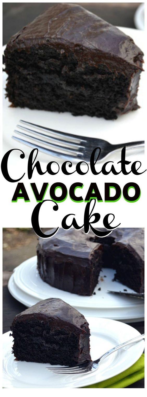 Chocolate Avocado Cake With Chocolate Avocado Frosting
