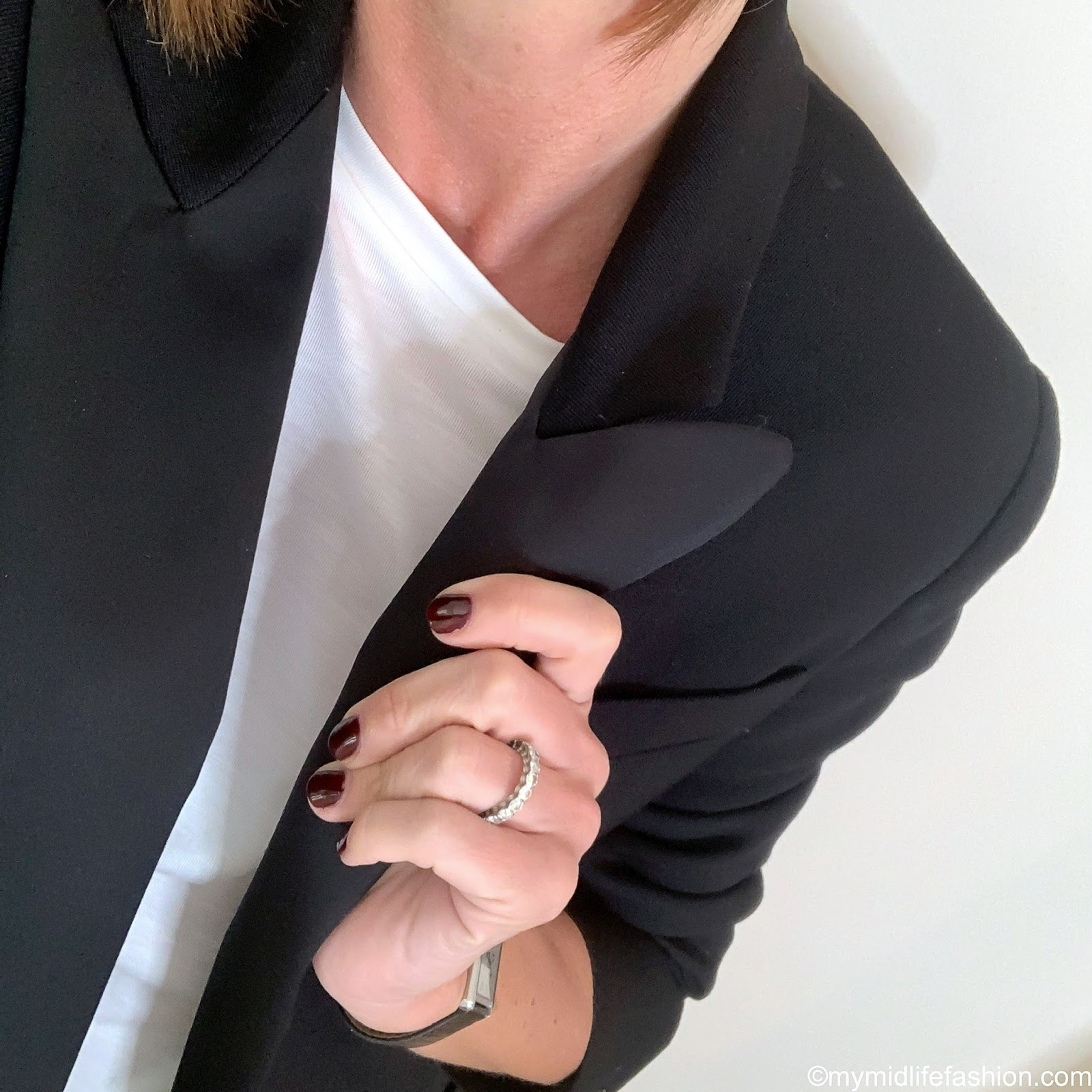 my midlife fashion, Isabel Marant boyfriend tuxedo, marks and Spencer draped crew neck t shirt, French sole India cheetah ballet pumps, j crew cropped kick flare jeans