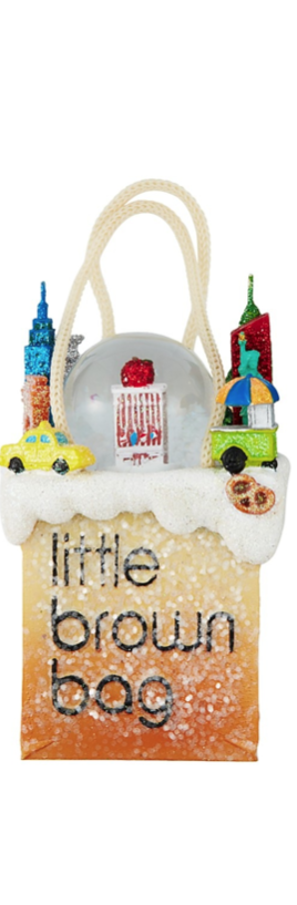 Bloomingdale's Little Brown  Bag New York Ornament